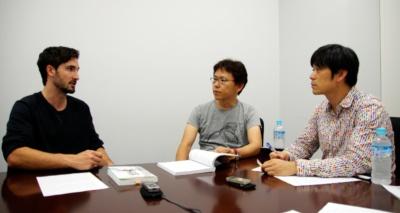 左から『独学プログラマー』著者のコーリー・アルソフ氏、訳者の清水川貴之氏と新木雅也氏