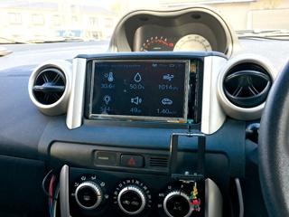 オムロン環境センサを利用した車室環境モニタリングシステム