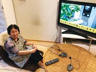 来客のインターホンの音を検知、耳の遠い祖母のためのお知らせ装置
